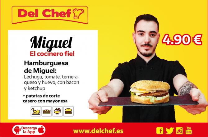 foto de Hamburguesa a domicilio en Granada, esta es la que más le gusta a Miguel