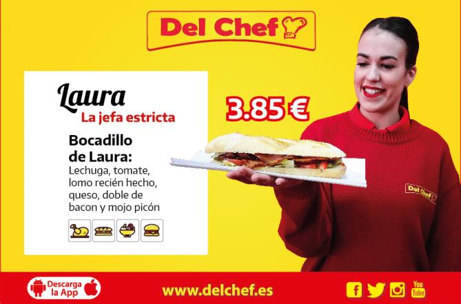 El mejor bocadillo a domicilio en Granada está en Del Chef y Laura lo pide habitualmente