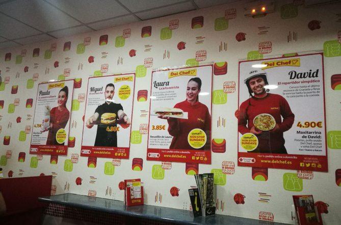 Así es como queda la campaña en nuestra cartelería interior. Los mejores profesionales de comida a domicilio de Granada