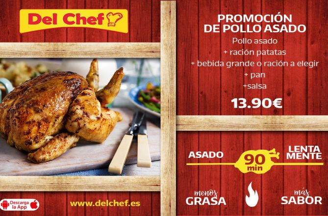 Oferta pollo asado en Granada