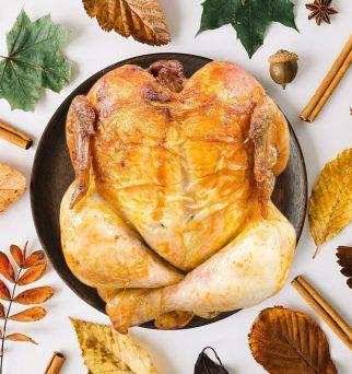 Pollo asado en otoño