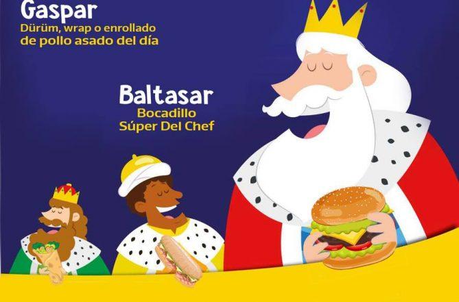 Reyes Magos piden comida a domicilio