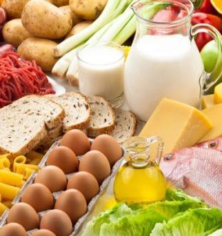 Foto de mucha comida casera productos culinarios
