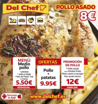 Oferta de pollo asado en Granada
