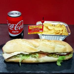 Foto de menú bocadillo individual a domicilio