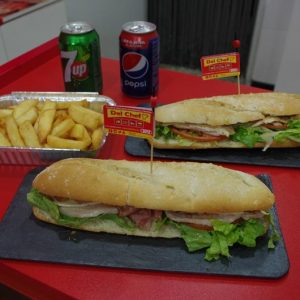 Foito de menú bocadillos para dos personas en Del Chef en Granada