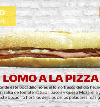 Foto de bocadillo de lomo a la pizza