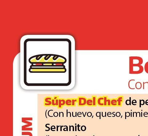 Carta del restaurante Del Chef, comida a domicilio en Granada y pueblos